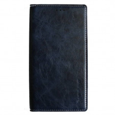 Husa Flip Cover Arium Design 990400-SGN4E-NV Boston Diary Book albastru navy pentru Samsung Galaxy Note 4 Edge - Husa Telefon