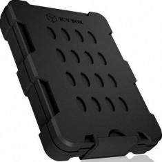 Rack HDD RaidSonic Icy Box impermeabil pentru 2.5inch SSD/HDD Black
