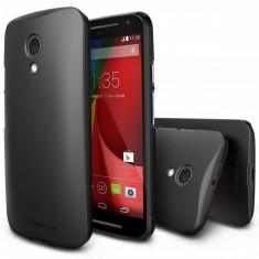 Husa Protectie Spate Ringke Slim Black plus folie protectie pentru Motorola Moto G 2014 - Husa Telefon