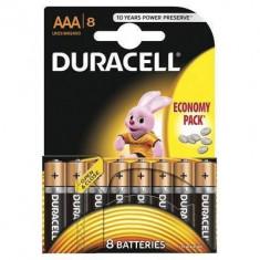 Baterie Duracell Basic AAA LR03 8buc Negru - Baterie Aparat foto Duracell, Tip AAA (R3)