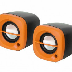 Sistem audio 2.0 Omega OG15O 6W ORANGE - Boxe PC