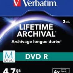 Mediu optic Verbatim 43826 M-DISC DVD R 4x 4.7GB 3 bucati Argintiu Mat