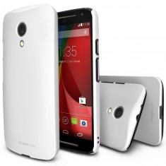 Husa Protectie Spate Ringke Slim White plus folie protectie pentru Motorola Moto G 2014 - Husa Telefon