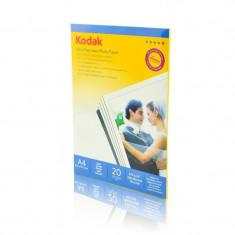 Hartie foto Kodak 20 coli A4 Ultra Premium Satin 270g - Hartie foto imprimanta