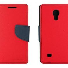 Husa Flip Cover Goospery YFSAMGS4MRA My-Fancy rosu / albastru pentru Samsung Galaxy S4 Mini I9190