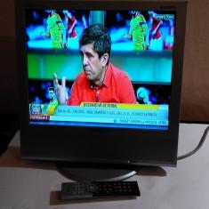 TV LCD 17 INCH SAMSUNG 711MP + TELECOMANDA SAMSUNG - Televizor LCD Samsung, 51 cm, HD Ready, Intrare RF: 1, Scart: 1, DVI: 1
