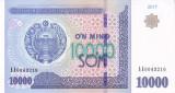 Bancnota Uzbekistan 10.000 Sum 2017 - P84 UNC