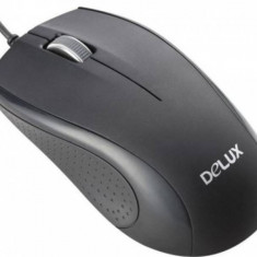 Mouse Delux 136BU Black, USB, Optica