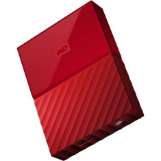 Hard disk extern WD My Passport New 2TB 2.5 inch USB 3.0 Red