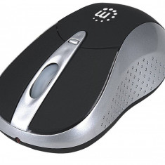 Mouse wireless si bluetooth Manhattan 178235 Viva Silver / Black, Optica