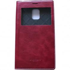 Husa Flip Cover Arium Design 232034-SGSN4E-RD Buffalo View rosie pentru Samsung Galaxy Note 4 Edge - Husa Telefon