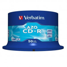 Mediu optic Verbatim BLANK CD-R Verbatim CRYSTAL AZO 52X 700MB 50PK SPINDLE DATALIFEPLUS - CD Blank