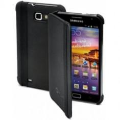 Husa Flip Cover Muvit MUBKC0388 Agenda Negru pentru Samsung Galaxy Note - Husa Telefon Muvit, Piele Ecologica, Cu clapeta