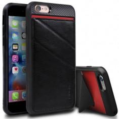 Husa Protectie Spate Ringke Edge neagra plus folie protectie display pentru Apple iPhone 6 / 6S - Husa Telefon