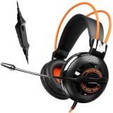 Casti gaming Somic G925 Black/Orange - Casca PC