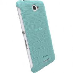 Husa Protectie Spate Krusell 90069 Frost Albastru pentru Sony Xperia E4 - Husa Telefon