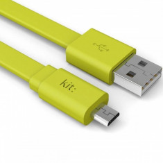 Cablu de date Kit 8600USBFRESHGN Fresh microUSB LED 1m verde