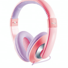 Casti Trust Sonin Kids Pink / Purple, Casti Over Ear, Cu fir, Mufa 3, 5mm