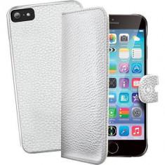 Husa Flip Cover Celly 102205 Ambo alba plus capac spate detasabil pentru Apple iPhone 6 - Husa Telefon