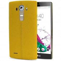 Husa Protectie Spate LG CPR-110 galbena pentru LG G4 - Husa Telefon LG, Piele, Carcasa