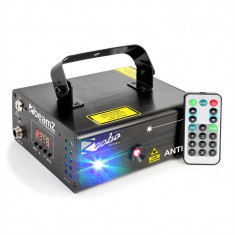 Beamz Anthe II, laser dublu de laser de 9 W RGB 12-Gobos 7 DMX Master / Slave - Laser lumini club