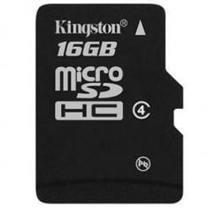 Card Kingston Micro SDHC 16GB Clasa 4 SDC4/16GBSP - Card memorie
