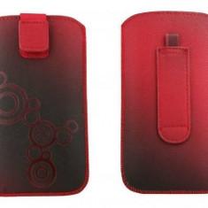 Toc OEM TLSAMGS2ROS Lux rosu pentru Samsung Galaxy S2 / S / S Plus - Husa Telefon