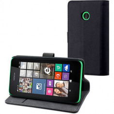 Husa Flip Cover Muvit 103099 neagra pentru Nokia Lumia 530 - Husa Telefon