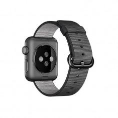Curea smartwatch Apple Watch 38mm Black Woven Nylon