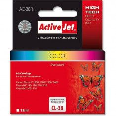 Consumabil ActiveJet Cartus compatibil CL-38 Color Canon (12 ml) - Cartus imprimanta