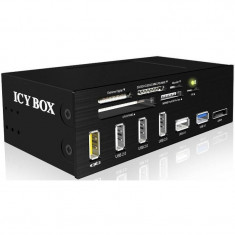 Card reader RaidSonic Icy Box 5.25 cu panou Multiport 60 tipuri card USB 3.0 - Cititor carduri