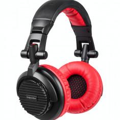 Casti Kruger&Matz DJ-200 Black / Red, Casti On Ear, Cu fir, Mufa 3, 5mm, Active Noise Cancelling