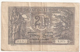 ROMANIA 2 LEI 1915 VF SERIE DIN 3 CIFRE