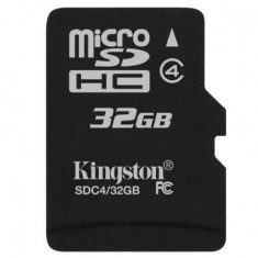 Card Kingston Micro SDHC 32GB Clasa 4 SDC4/32GBSP, Micro SD, 32 GB