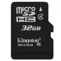 Card Kingston Micro SDHC 32GB Clasa 4 SDC4/32GBSP - Card memorie