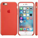 Husa Protectie Spate Apple Silicone Case Orange pentru tiPhone 6s plus - Husa Telefon