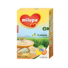 Cereale copii MILUPA Bio 3 Cereale fara lapte 250g de la 6 luni