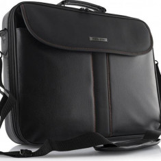 Modecom Geanta Laptop Cordoba 17 inch MDC00011, Piele sintetica, Negru