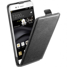 Husa Flip Cover Cellularline FLAPESSENP9K Flip Essential Black pentru Huawei P9 - Husa Telefon