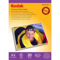 Hartie foto Kodak 20 coli A3 Premium Glossy 230g - Hartie foto imprimanta