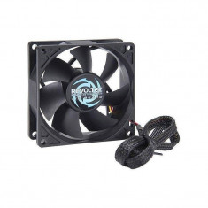 Ventilator pentru carcasa Revoltec AirGuard 80mm negru - Cooler PC