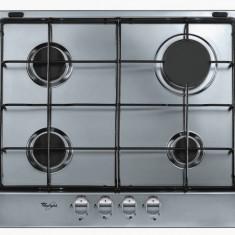 Plita incorporabila Whirlpool AKR 360 IX gaz 4 arzatoare inox, Argintiu, Numar arzatoare: 4