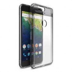 Husa Protectie Spate Ringke Fusion Smoke Black plus folie protectie display pentru Huawei Nexus 6P 2015
