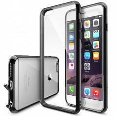 Husa Protectie Spate Ringke FUSION Black plus folie protectie pentru Apple iPhone 6 Plus/6S Plus - Husa Telefon Ringke, Gel TPU