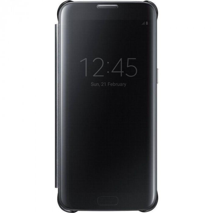 Husa Flip Cover Samsung Clear View pentru Galaxy S7 Edge foto mare
