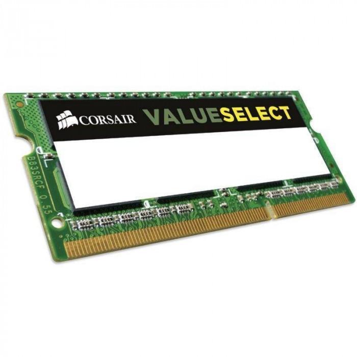 Memorie laptop Corsair ValueSelect 8GB DDR3 1333 MHz CL9 foto mare