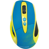 Mouse wireless Hama Wireless Knallbunt 2.0 Albastru Galben, Optica
