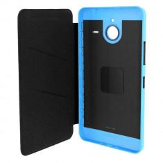 Husa Flip Cover Microsoft CC-3090 Shell albastra pentru Microsoft Lumia 640 XL - Husa Telefon Microsoft, Piele Ecologica, Cu clapeta