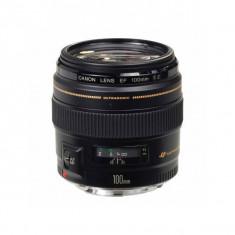 Obiectiv Canon EF 100mm f/2.0 USM - Obiectiv DSLR Canon, Tele, Autofocus, Canon - EF/EF-S