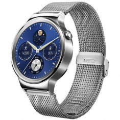 Smartwatch Huawei 42MM Carcasa si Curea Otel Inoxidabil Mesh Argintiu